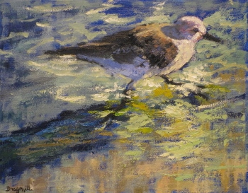 always-in-a-hurry-14x11-oil-available-at-the-pink-rooster-ocean-springs-ms-350x273