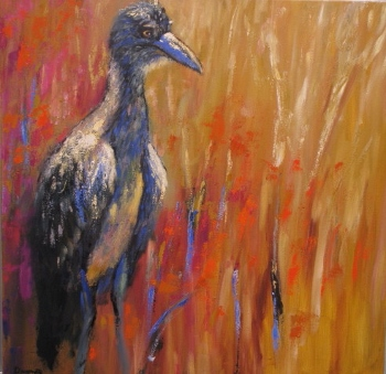 baby-blue-24x24-oil- Sold! at The Pink Rooster, Ocean Springs, Ms.
