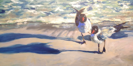 What? 24x36; oil available at Frameworks Gallery Marietta, Ga.,