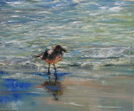 Maybe I should Stand Over There,; 24x30 oil Frameworks Gallery Marietta, G.