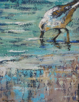 Stuck 14x11 oil Sold at The Pink Rooster, Ocean Springs, Ms