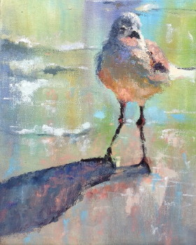 Chillin\' 14x11 oil palette knife Sold at Pink Rooster Art Gallery Ocean Springs, Ms