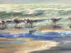The Line Up;Sold!  24x48 oil available at Frameworks Gallery Marietta Ga.