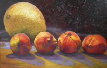 Georgia Peaches and a Melon oil 24x36 $1200.00